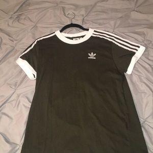 Adidas brand striped T-shirt